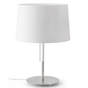Lampe à poser Faro abat jour blanc