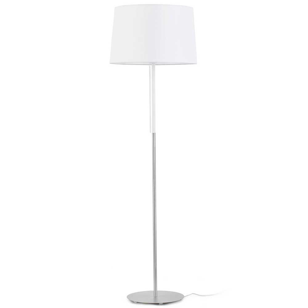 un lampadaire abat jour blanc en textile style. Black Bedroom Furniture Sets. Home Design Ideas