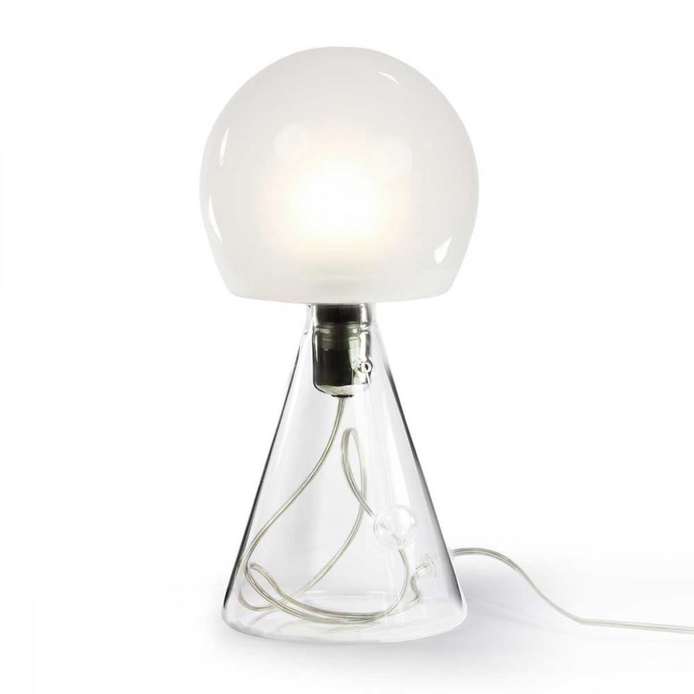 lampe opossum c ble transparent abat jour boule h39cm lampe en verre. Black Bedroom Furniture Sets. Home Design Ideas