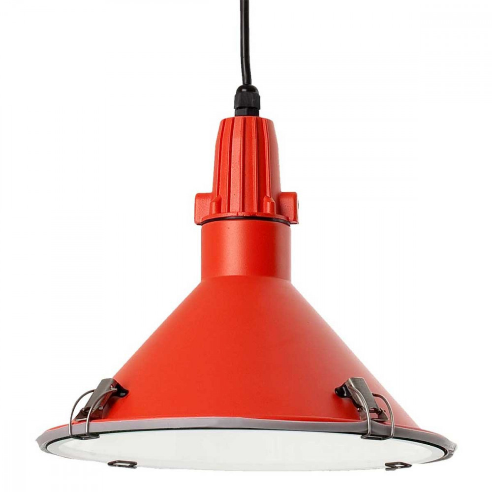 Suspension rouge cuisine ou ext rieur en vente sur lampe for Suspension inox cuisine