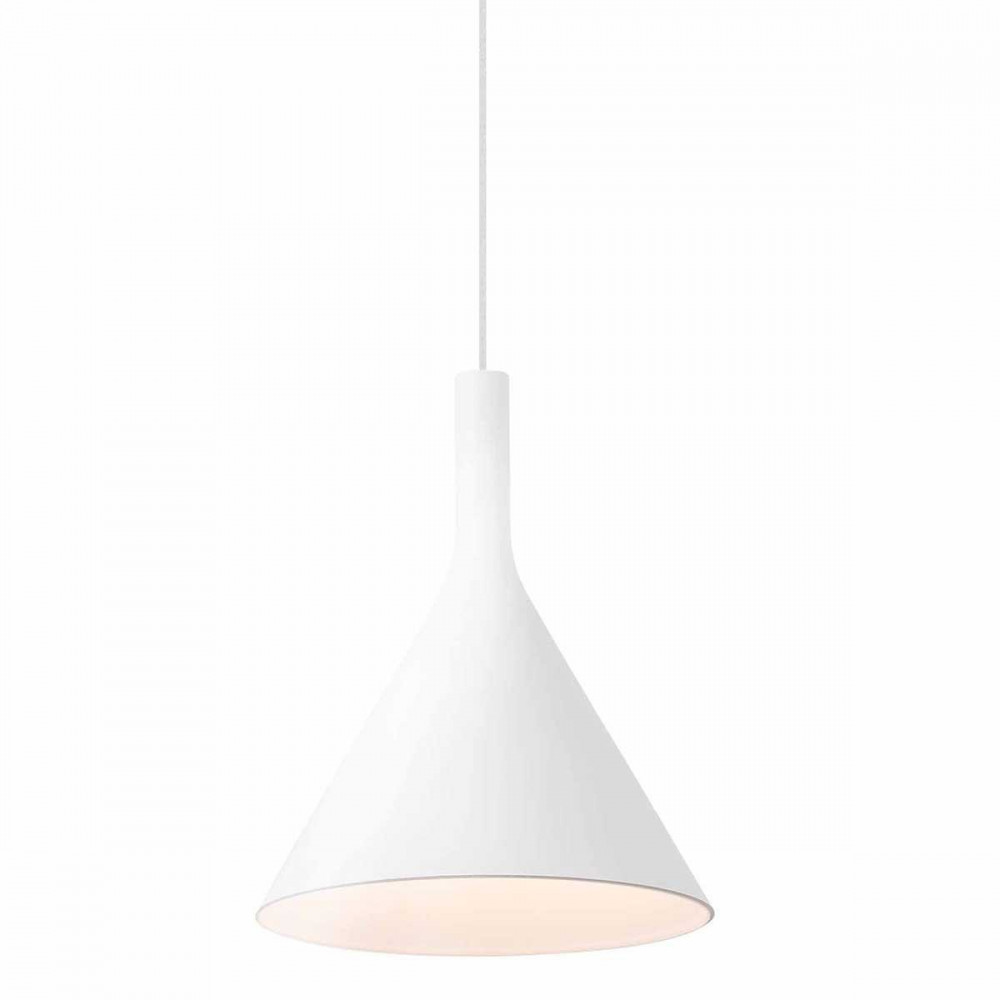 Suspension led design blanche en alu lampe avenue for Suspension cuisine blanche