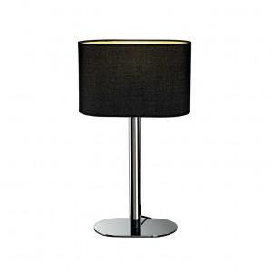 Lampe contemporaine chromée abat-jour noir