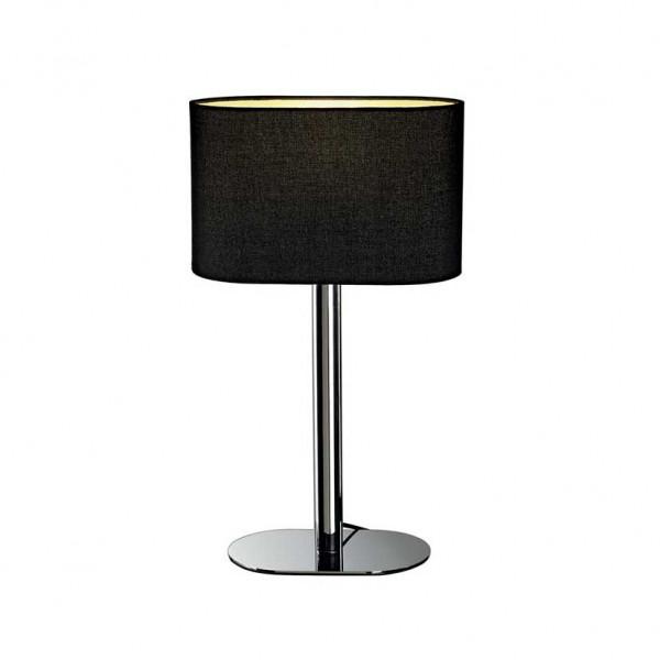 lampe contemporaine chrom e abat jour noir lampe avenue. Black Bedroom Furniture Sets. Home Design Ideas