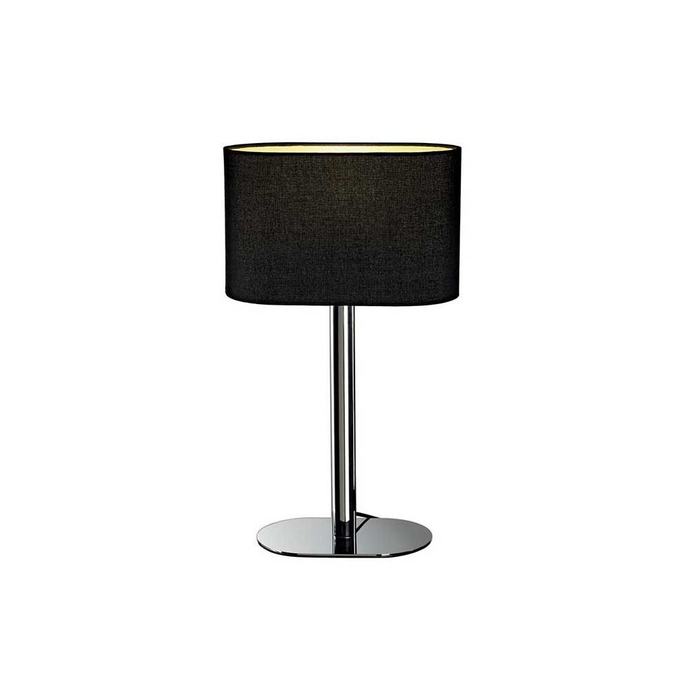 Lampe contemporaine chrom e abat jour noir lampe avenue for Lampe a poser contemporaine
