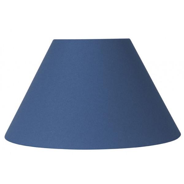 abat jour rond bleu glacier sur lampe avenue. Black Bedroom Furniture Sets. Home Design Ideas