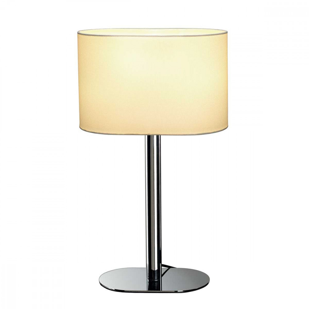 lampe au pied chrom abat jour blanc lampe avenue. Black Bedroom Furniture Sets. Home Design Ideas