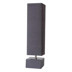 Lampe carrée gris ardoise