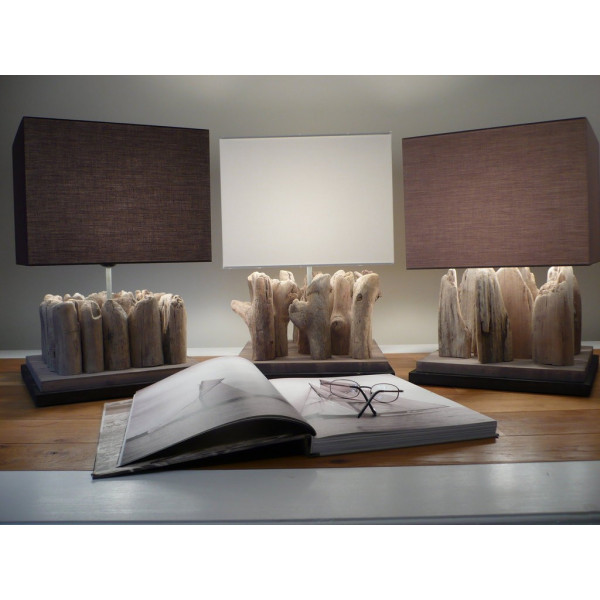 lampe en bois flott. Black Bedroom Furniture Sets. Home Design Ideas