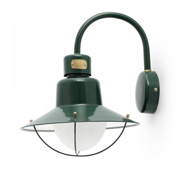 Applique extérieure métal vert
