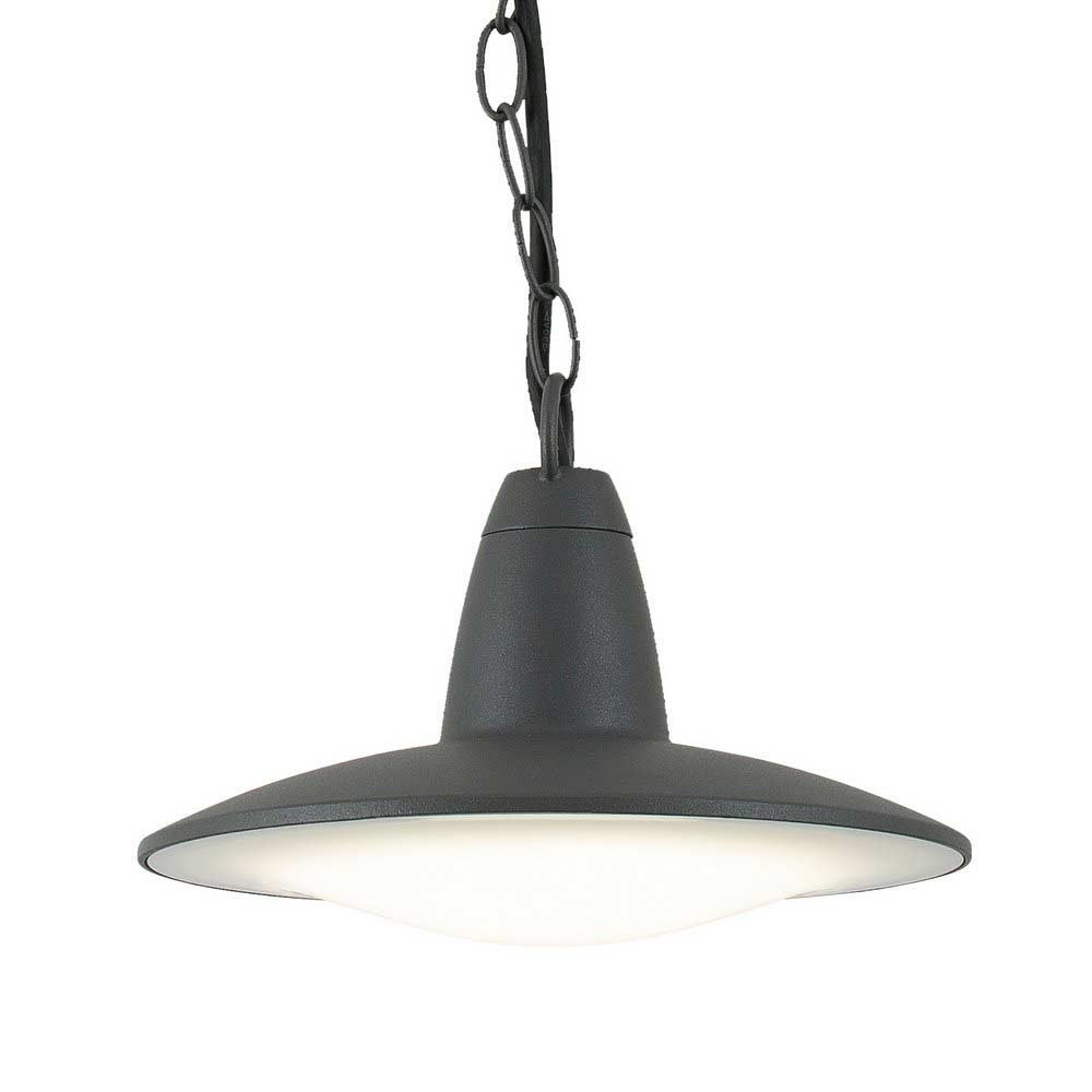 Suspension led m tal gris pour ext rieur vente sur lampe for Suspension luminaire exterieur