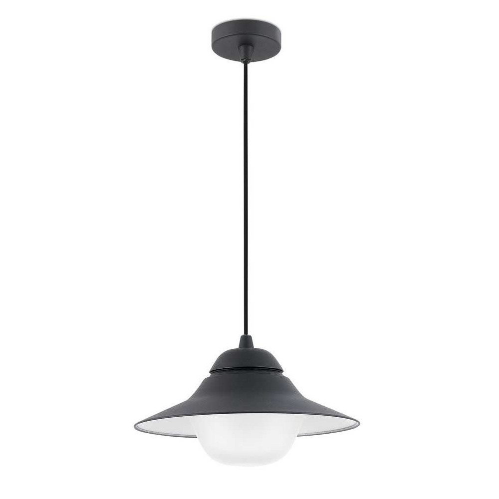 Suspension en alu noir pour l 39 ext rieur a acheter sur for Suspension led exterieur