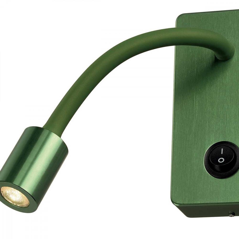 applique liseuse verte avec interrupteur et ampoule led. Black Bedroom Furniture Sets. Home Design Ideas