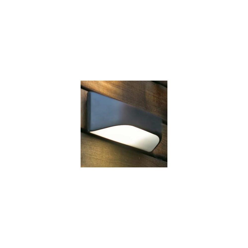 applique bord de mer en polycarbonate gris anthracite lampe avenue. Black Bedroom Furniture Sets. Home Design Ideas
