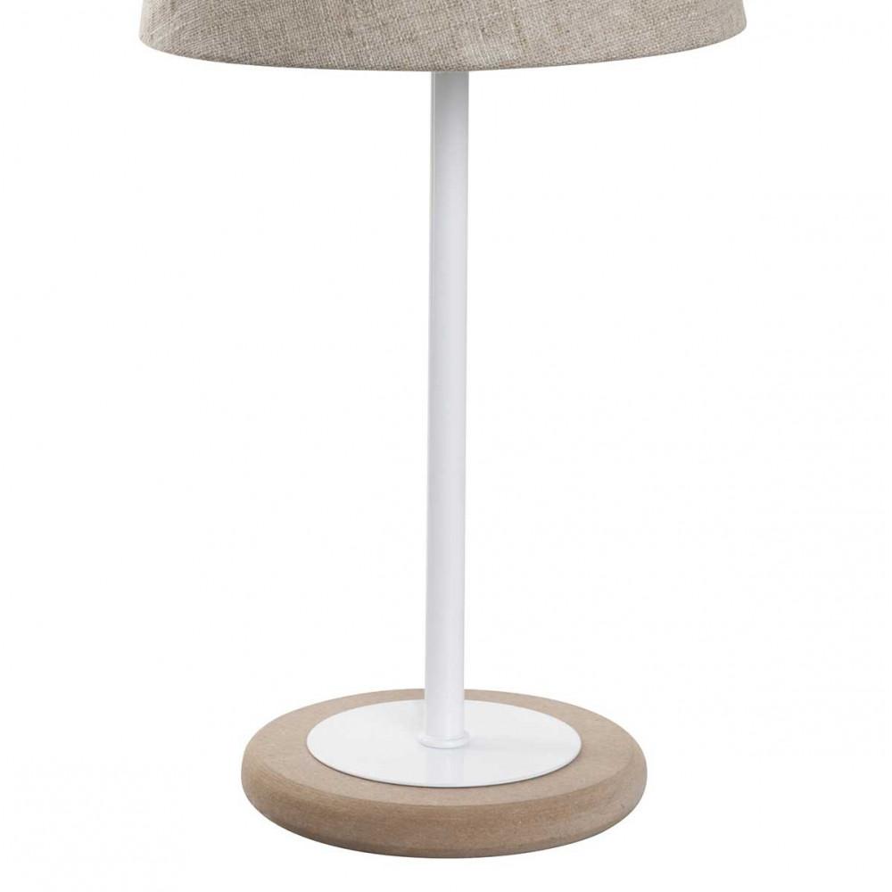 petite lampe scandinave bois et m tal abat jour toile de jute lampe avenue. Black Bedroom Furniture Sets. Home Design Ideas