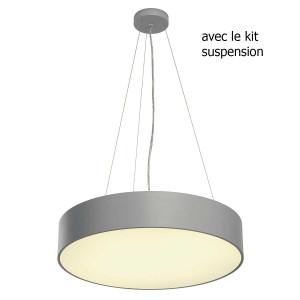 Grande suspension bureau grise 60cm