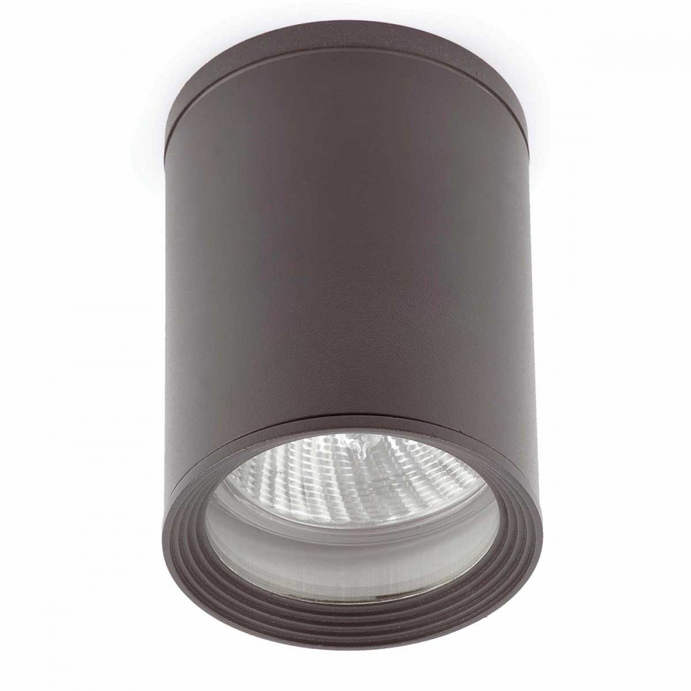 Plafonnier ext rieur gris cylindrique et design acheter for Plafonnier exterieur terrasse