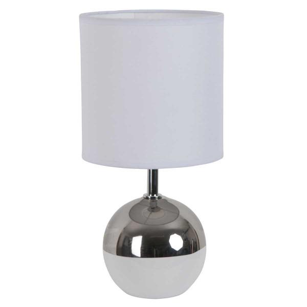 Argent Lampe Boule Bicolore Blanche Et vOnwy8mN0P