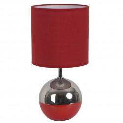 Lampe boule rouge
