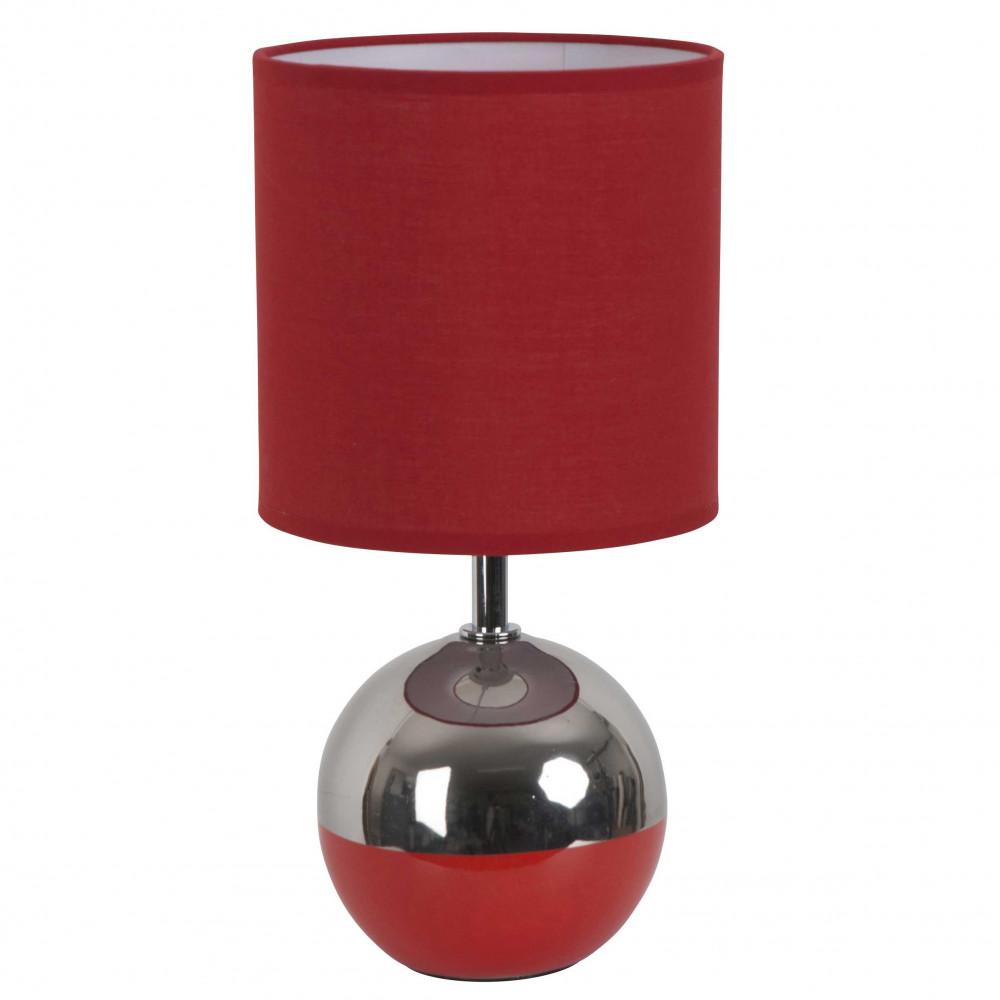 Petite lampe boule rouge et chrome style d co a for Lampe exterieur boule