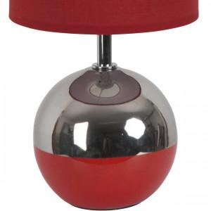 Lampe boule bicolore rouge et argent