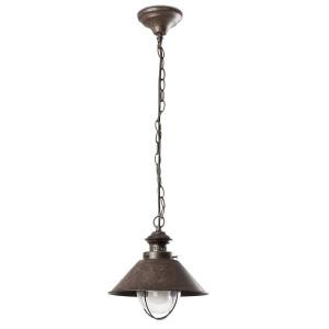 Lanterne métal effet rouille