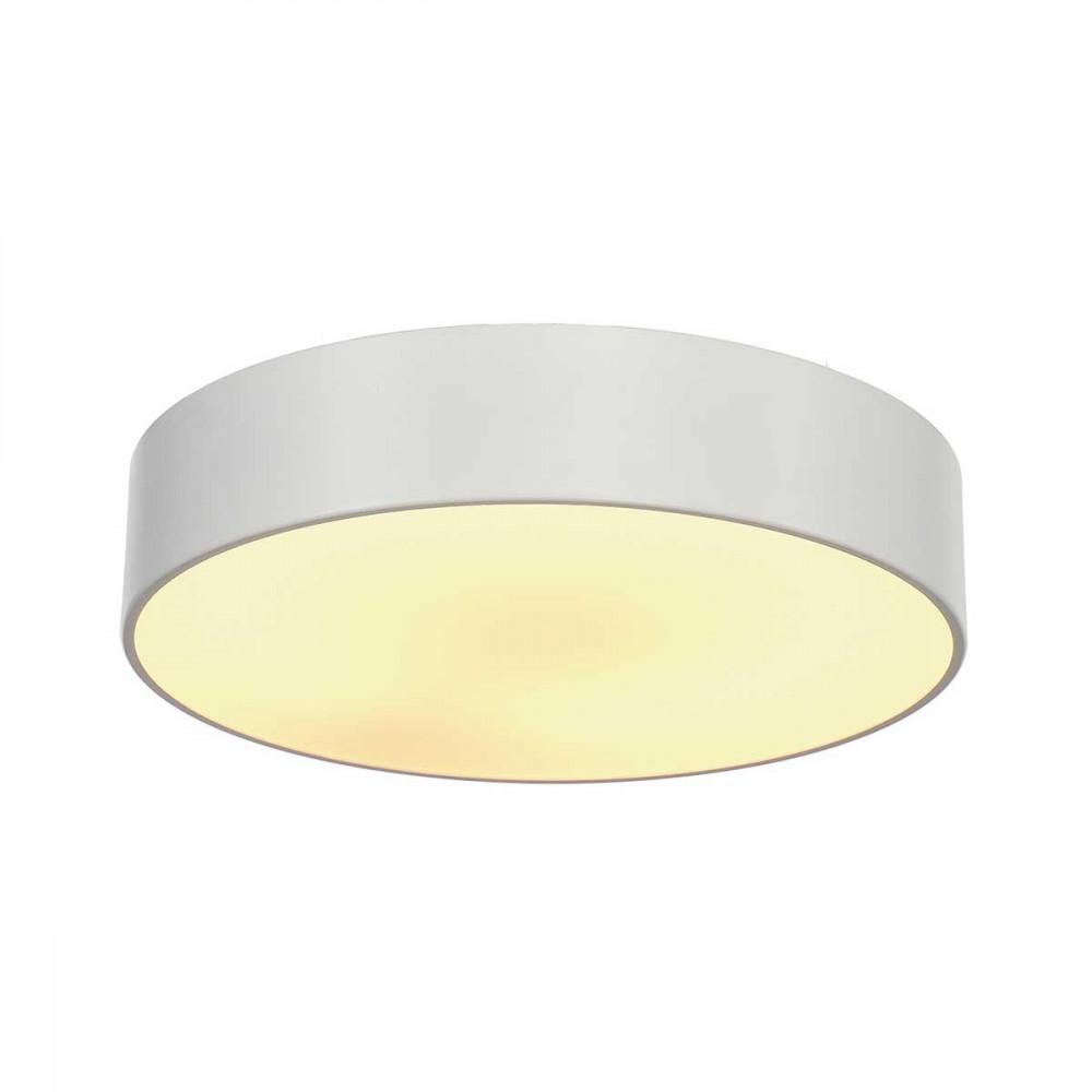 Plafonnier blanc rond en alu 38cm en vente sur lampe avenue for Luminaire exterieur rond