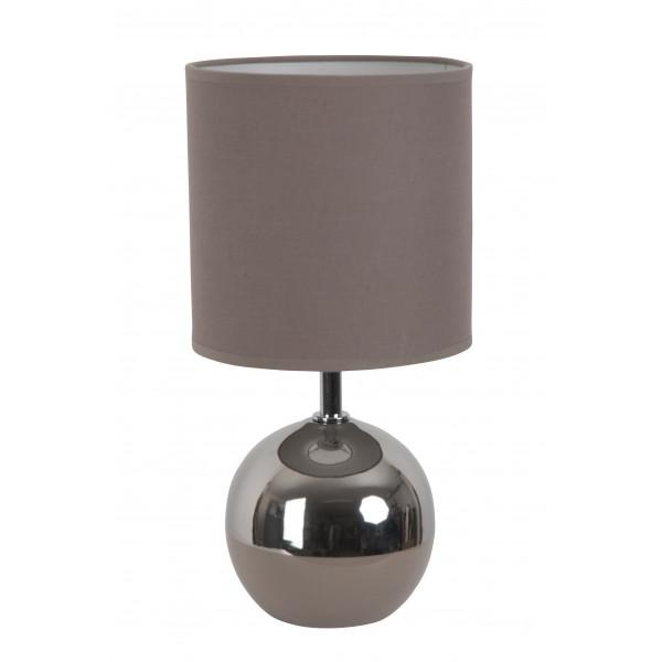 Lampe boule bicolore taupe