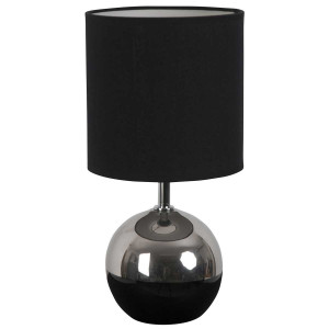 Lampe boule bicolore noire