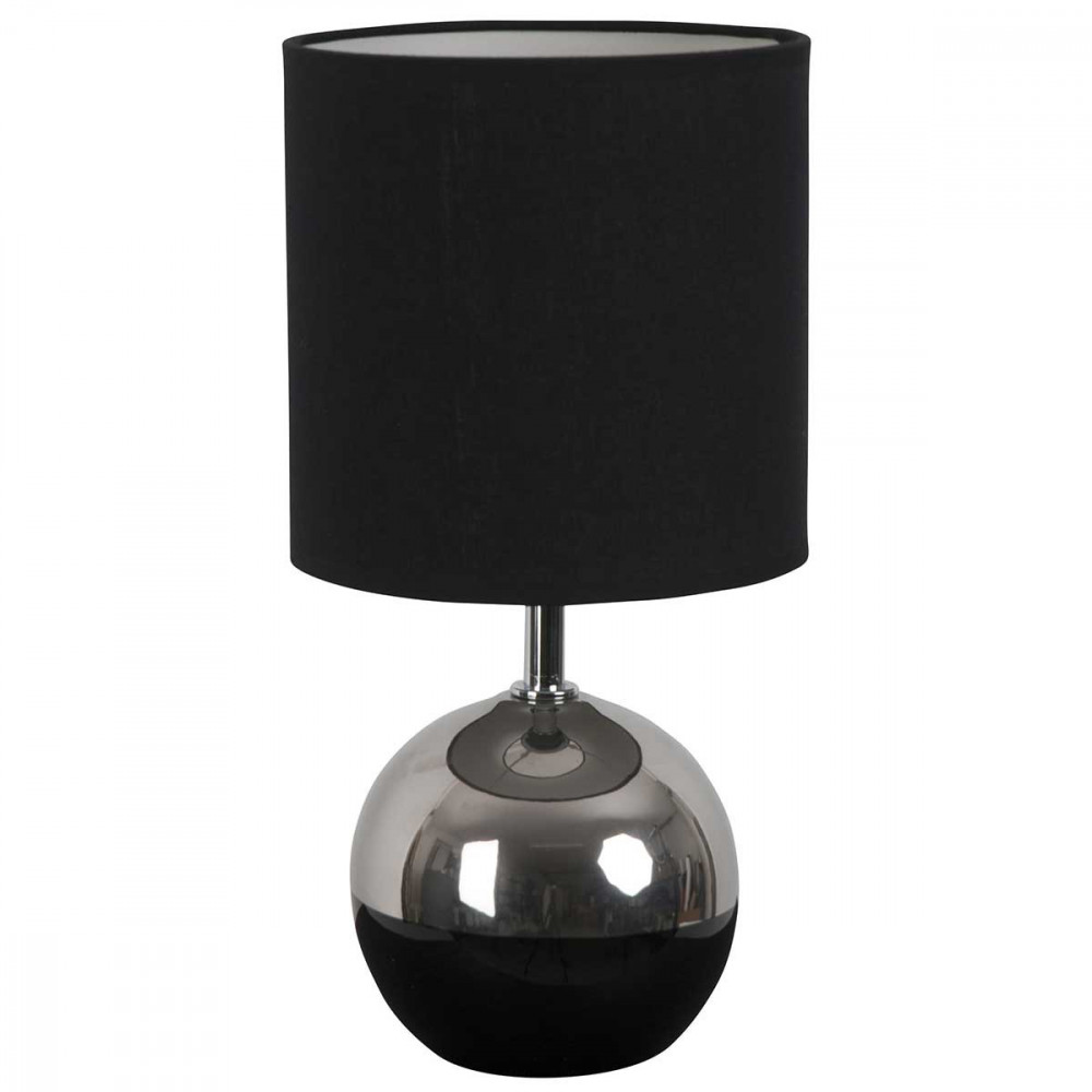 petite lampe boule noire et chrome style d co a retrouver sur lampe avenue. Black Bedroom Furniture Sets. Home Design Ideas