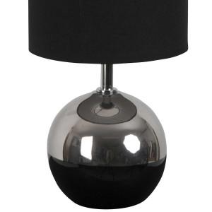 Lampe boule bicolore noire et argent