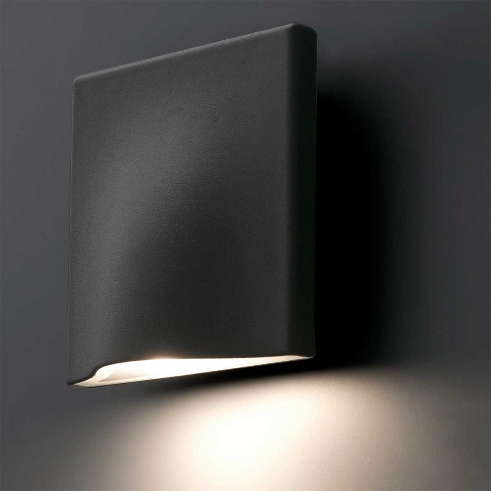 Petite applique led ext rieure design en alu gris fonc for Appliques exterieures design