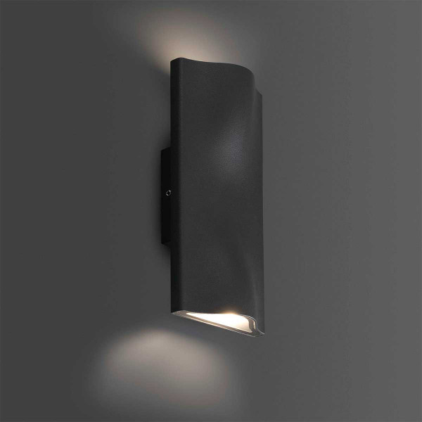Applique murale led ext rieure design en alu gris fonc for Applique murale exterieure led