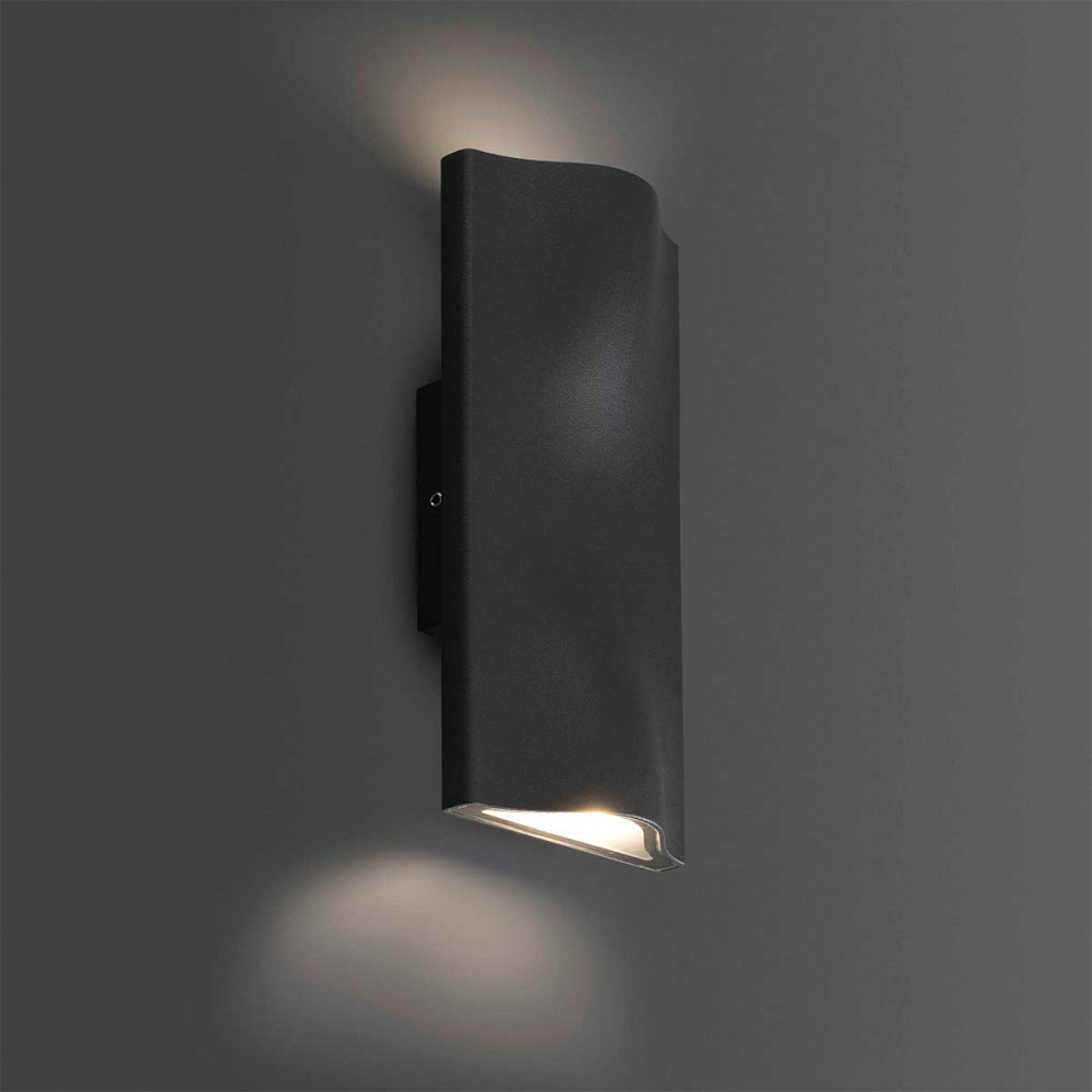 Applique murale led ext rieure design en alu gris fonc for Applique murale luminaire exterieur design