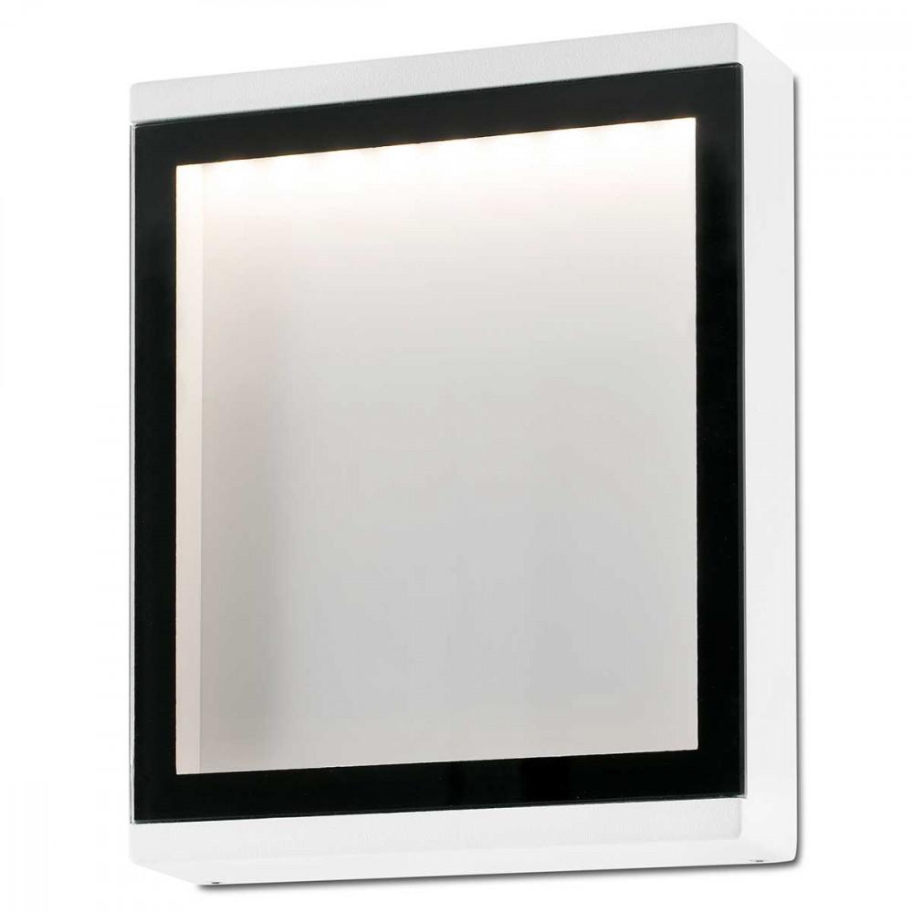 Applique ext rieure panneau led blanc et noir en alu et for Panneau verre exterieur