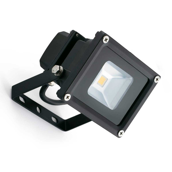 Projecteur ext rieur led 10w lumi re chaude en aluminium for Projecteur lumiere exterieur