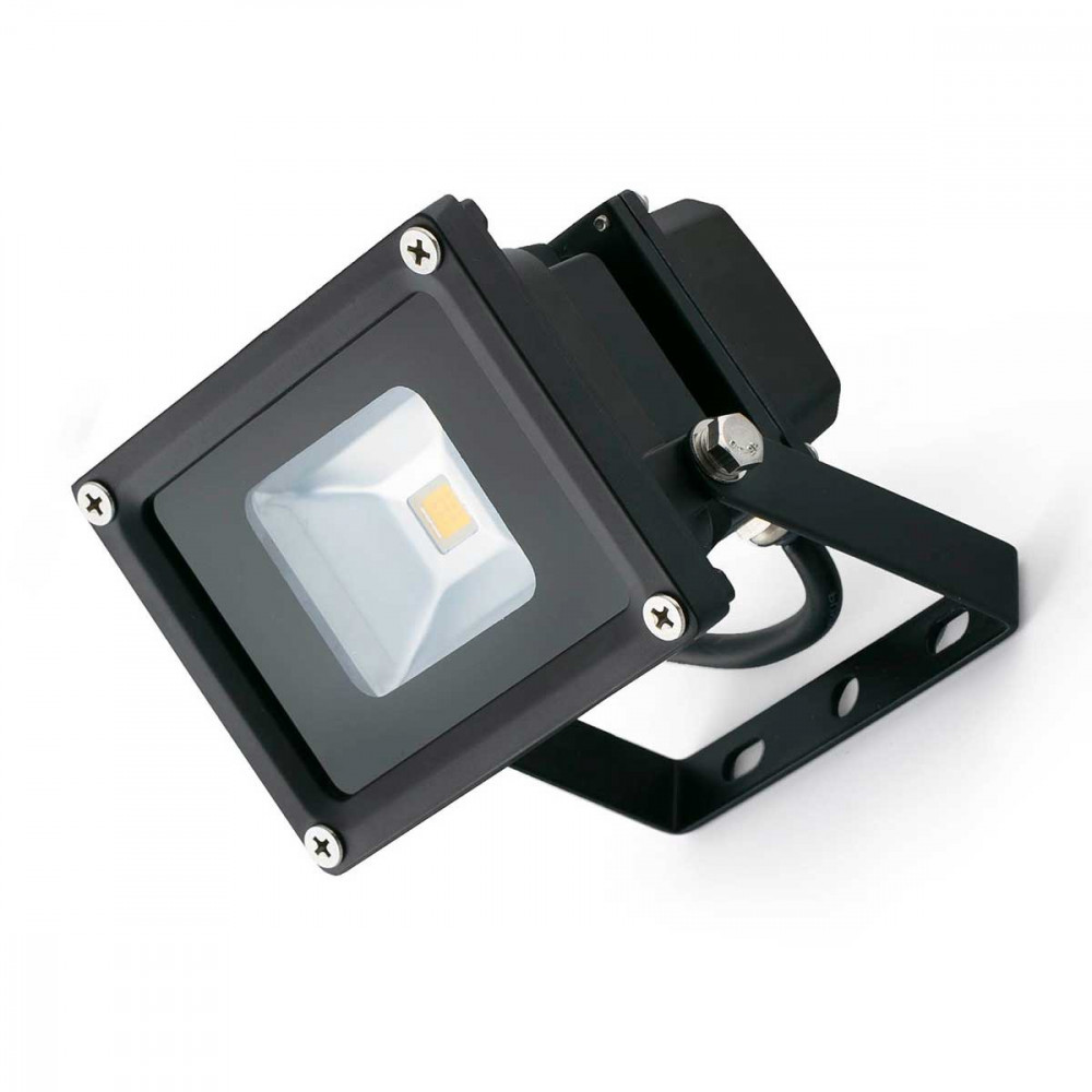Projecteur led ext rieur 10w lumi re blanche en aluminium for Projecteur video exterieur