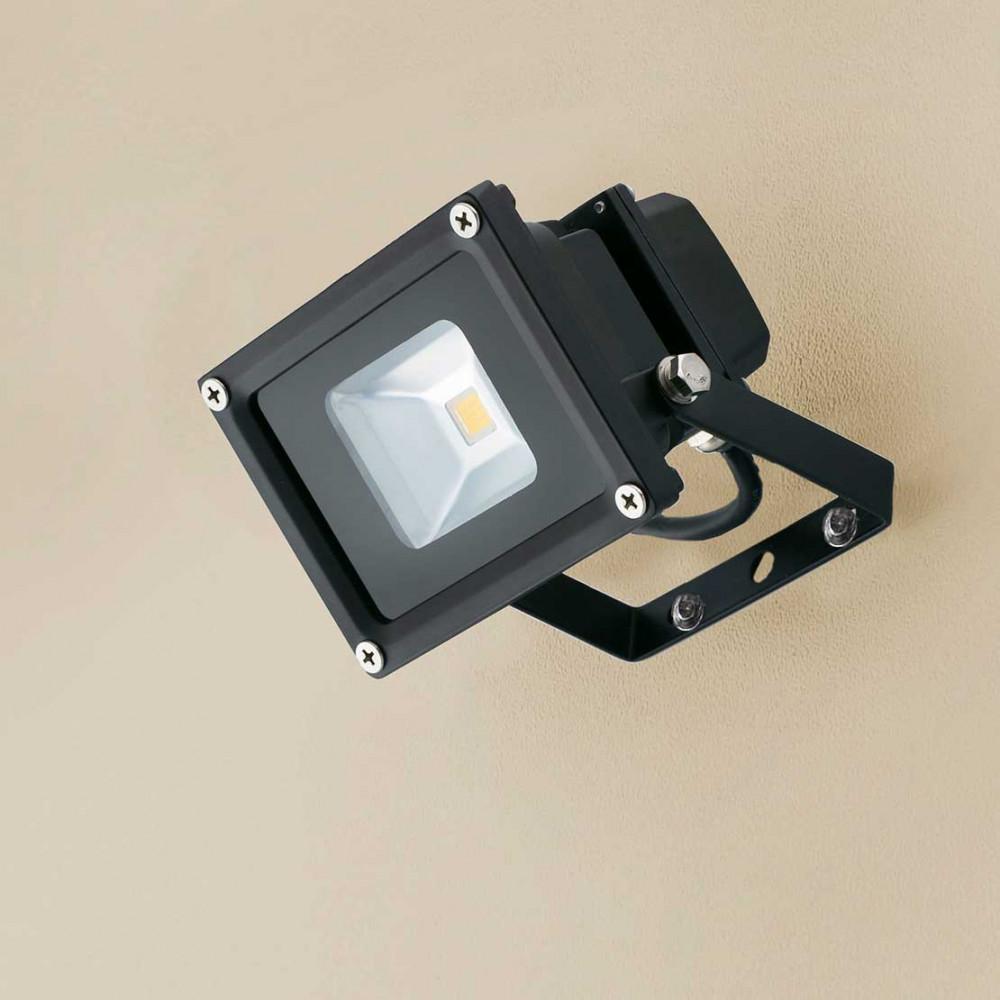 Projecteur led ext rieur 10w lumi re blanche en aluminium for Lumiere exterieur led