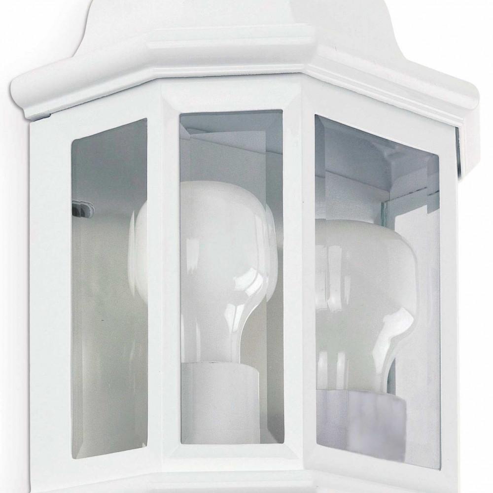 applique pour ext rieur blanche double clairage sur lampe avenue. Black Bedroom Furniture Sets. Home Design Ideas