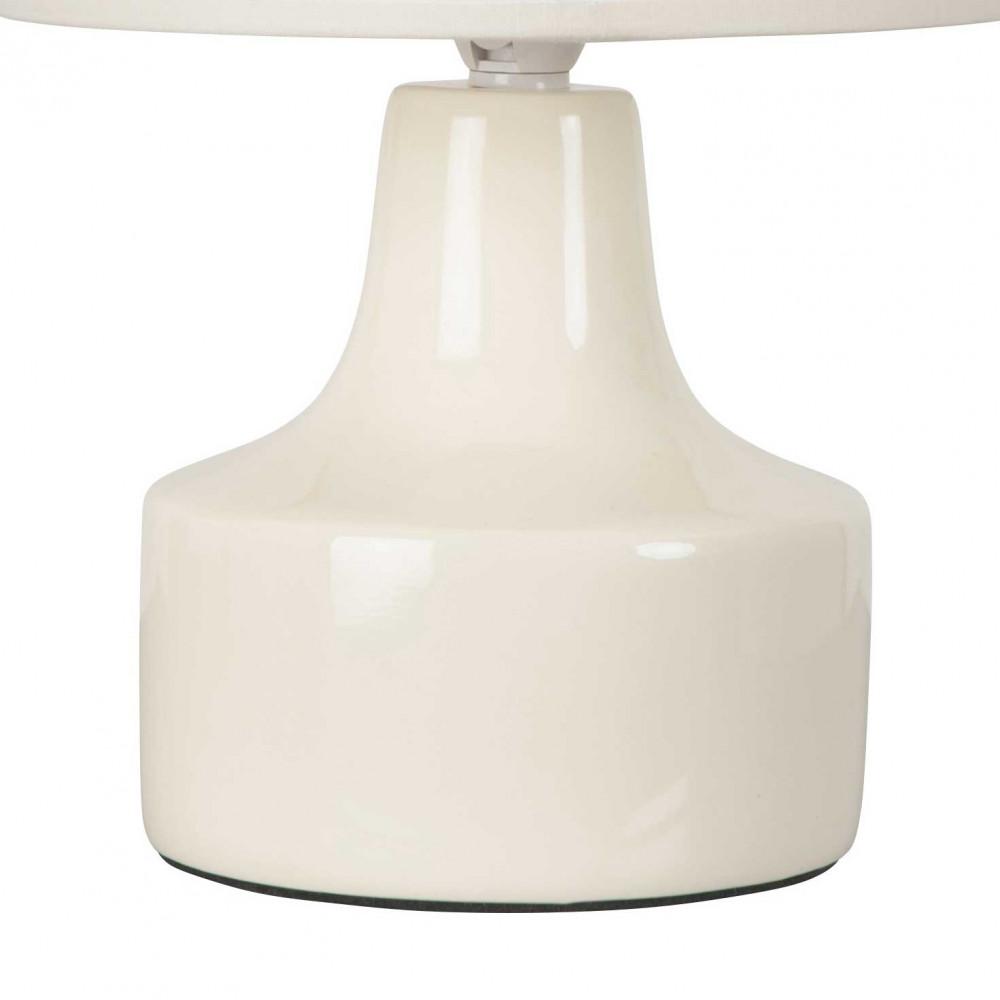 Petite lampe cr me en c ramique avec abat jour assorti for Petite lampe exterieur