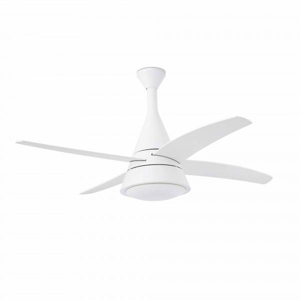 Ventilateur lumineux moderne blanc
