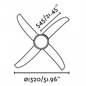 Plafonnier ventilateur blanc