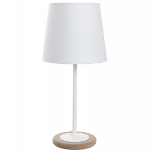 Petite lampe de chevet blanche et métal