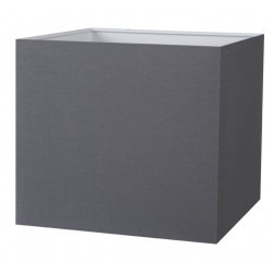 Abat-jour carré gris ardoise