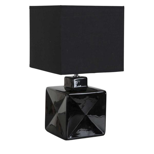 Petite lampe noire carrée