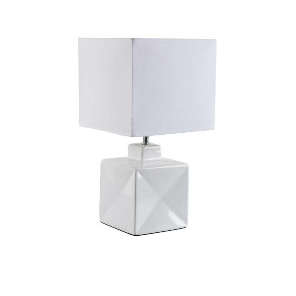 Petite lampe blanche carrée