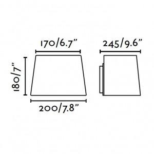 Applique Faro dimensions