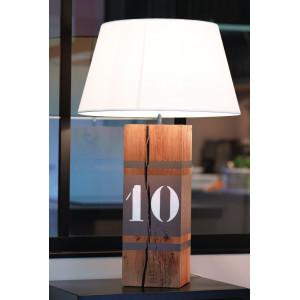 Grande lampe en bois