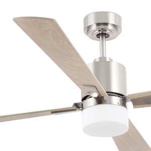 Plafonnier ventilateur bois design