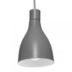 Suspension métal gris foncé intérieur blanc