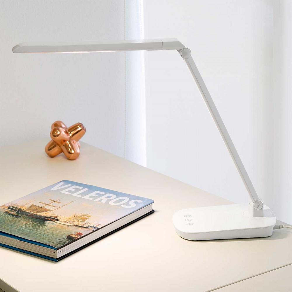 lampe de bureau blanche tactile avec variateur de lumi re lampe avenue. Black Bedroom Furniture Sets. Home Design Ideas